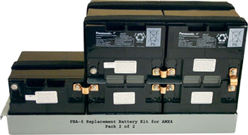 Lead-acid Battery Replacement kits for GE AMX110, AMX2, and AMX3